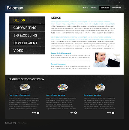 Template 37511 ( Services Page ) ADOBE Photoshop Screenshot