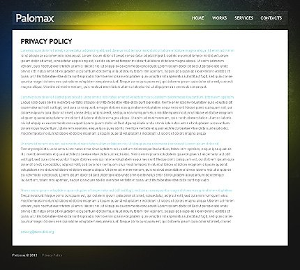 Template 37511 ( Privacy Policy Page ) ADOBE Photoshop Screenshot