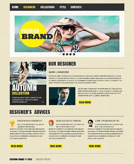 Template 37517 ( Designers Page ) ADOBE Photoshop Screenshot