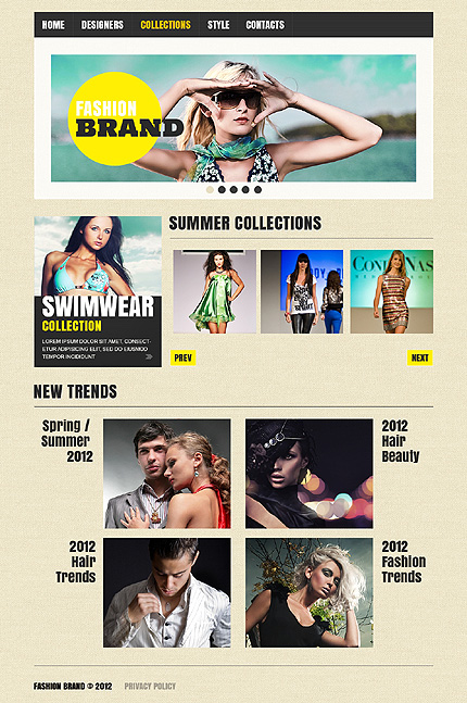 Template 37517 ( Collections Page ) ADOBE Photoshop Screenshot