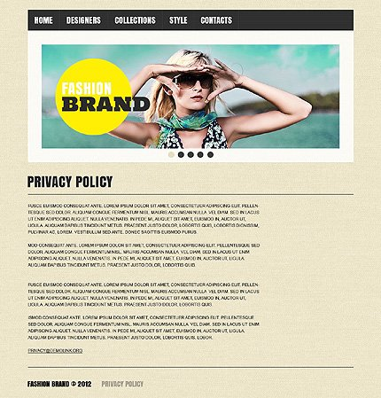 Template 37517 ( Privacy Policy Page ) ADOBE Photoshop Screenshot