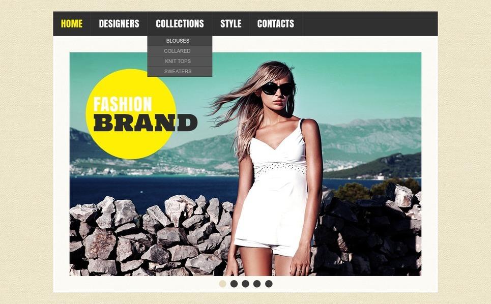 Responsive Website template over Kledingzaak  New Screenshots BIG