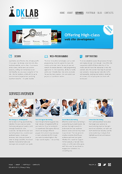 Template 37528 ( Services Page ) ADOBE Photoshop Screenshot