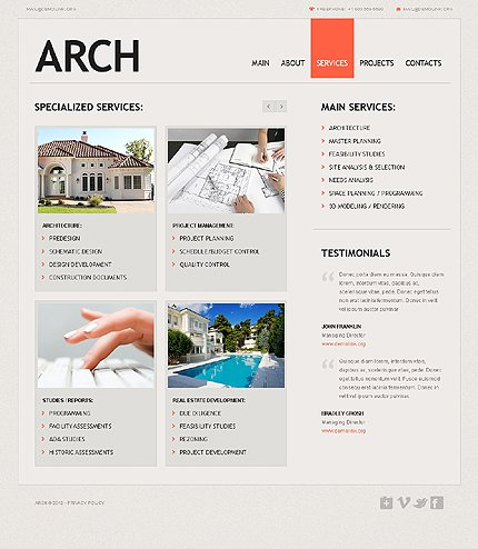 Template 37535 ( Services Page ) ADOBE Photoshop Screenshot