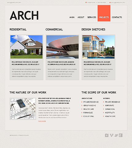 Template 37535 ( Projects Page ) ADOBE Photoshop Screenshot
