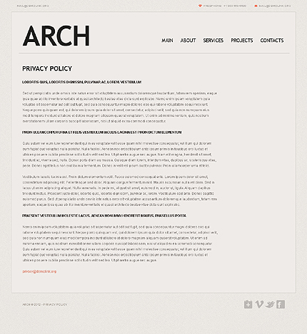 Template 37535 ( Privacy Policy Page ) ADOBE Photoshop Screenshot