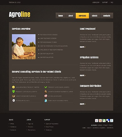 Template 37541 ( Services Page ) ADOBE Photoshop Screenshot