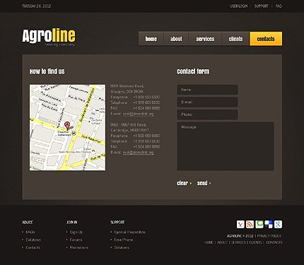 Template 37541 ( Contacts Page ) ADOBE Photoshop Screenshot