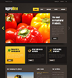 Agriculture Website  Template 37541