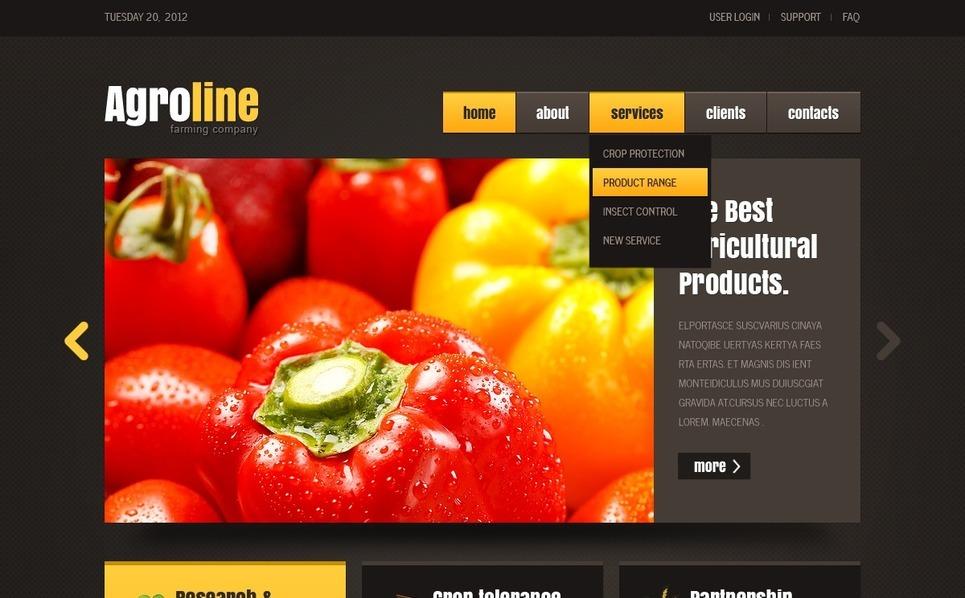 Šablona webových stránek Zemědělství New Screenshots BIG