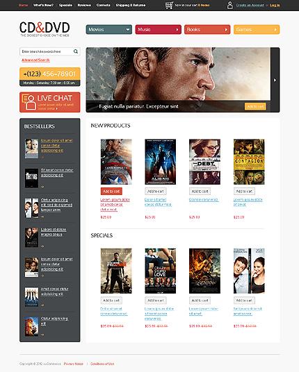 osCommerce Template 37582 Main Page Screenshot
