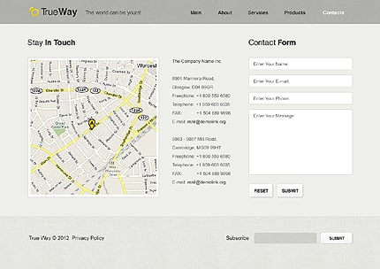 Template 37584 ( Contacts Page ) ADOBE Photoshop Screenshot