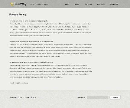 Template 37584 ( Privacy Policy Page ) ADOBE Photoshop Screenshot