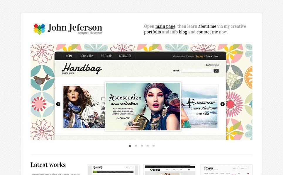 设计师组合网页网页模板 New Screenshots BIG