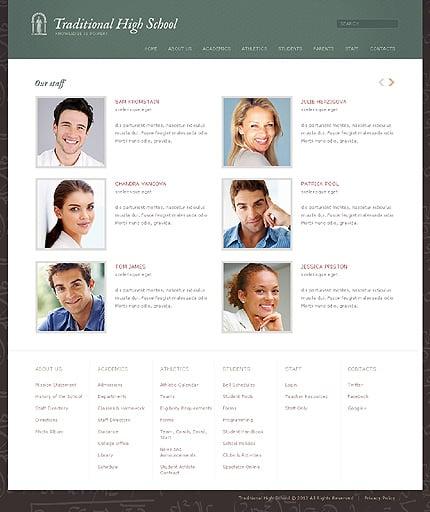 Template 37590 ( Staff Page ) ADOBE Photoshop Screenshot