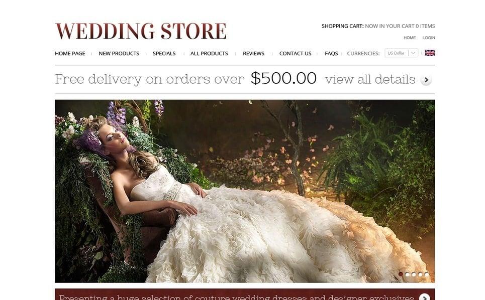 ZenCart шаблон №37595 на тему свадебный магазин New Screenshots BIG