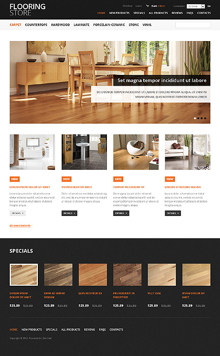 ZenCart Template 37597 Main Page Screenshot