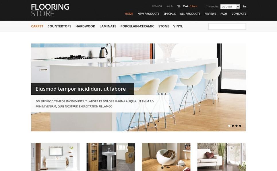 ZenCart Vorlage für Bodenbelag Vorlage New Screenshots BIG