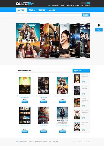 ZenCart Template 37599 Main Page Screenshot