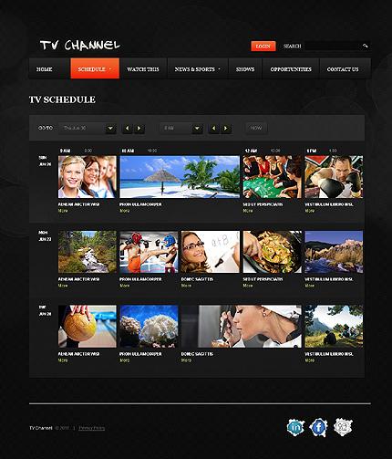 Tv channel website template #33290.