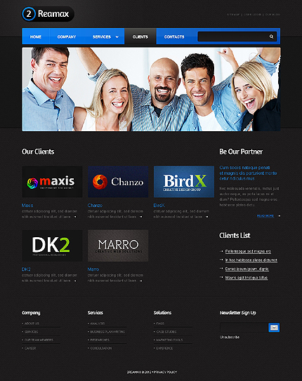 Template 37602 ( Clients Page ) ADOBE Photoshop Screenshot