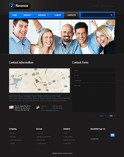Template 37602 ( Contacts Page ) ADOBE Photoshop Screenshot