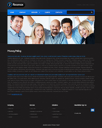 Template 37602 ( Privacy Policy Page ) ADOBE Photoshop Screenshot