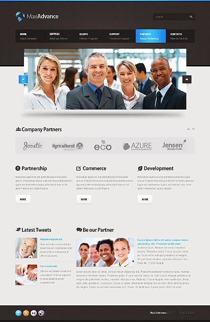 Template 37606 ( Partners Page ) ADOBE Photoshop Screenshot