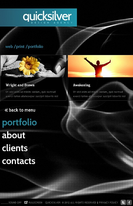 ADOBE Photoshop Template 37616 Home Page Screenshot
