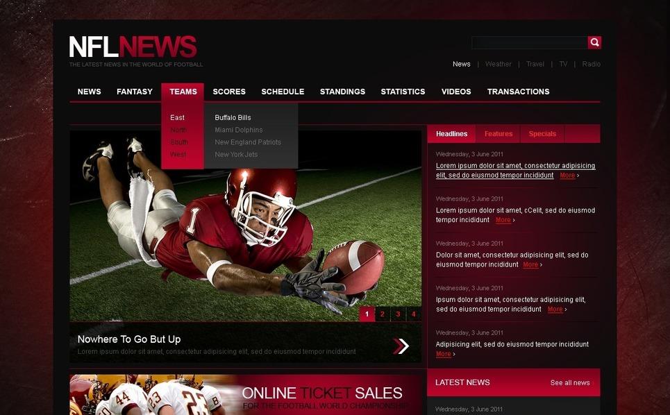 Szablon PSD #37623 na temat: nowości sportowe New Screenshots BIG