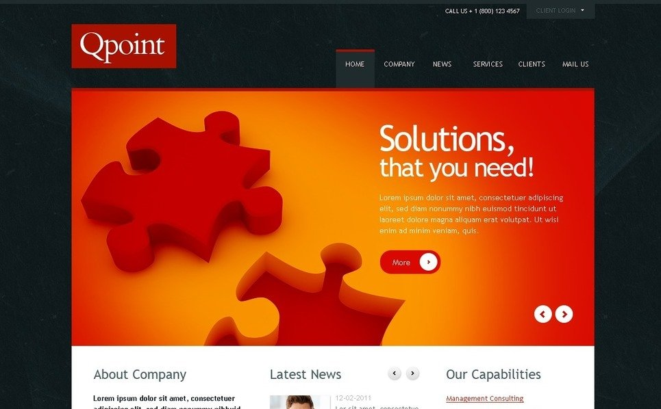 Plantilla PSD #37625 para Sitio de Negocio y Servicios New Screenshots BIG