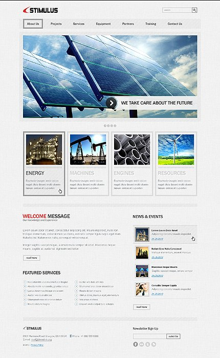 ADOBE Photoshop Template 37627 Home Page Screenshot