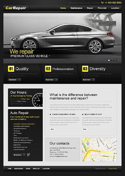 ADOBE Photoshop Template 37629 Home Page Screenshot