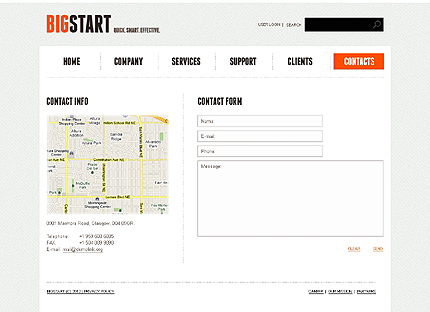 Template 37653 ( Contacts Page ) ADOBE Photoshop Screenshot