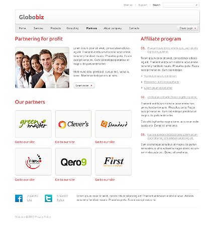 Template 37654 ( Partners Page ) ADOBE Photoshop Screenshot