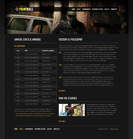 Template 37658 ( About Page ) ADOBE Photoshop Screenshot