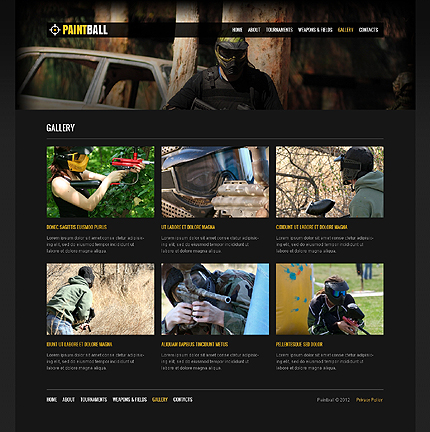 Template 37658 ( Gallery Page ) ADOBE Photoshop Screenshot