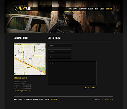 Template 37658 ( Contacts Page ) ADOBE Photoshop Screenshot