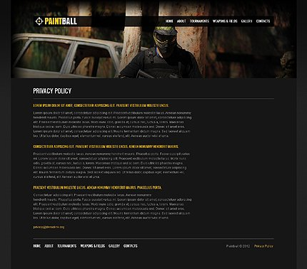Template 37658 ( Privacy Policy Page ) ADOBE Photoshop Screenshot