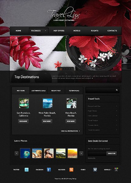 Template 37660 ( Packages Page ) ADOBE Photoshop Screenshot