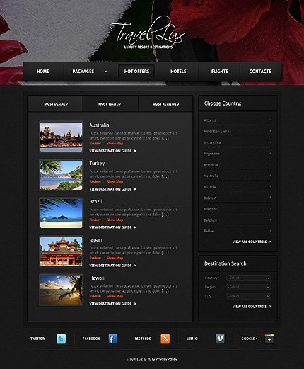 Template 37660 ( Hot offers Page ) ADOBE Photoshop Screenshot