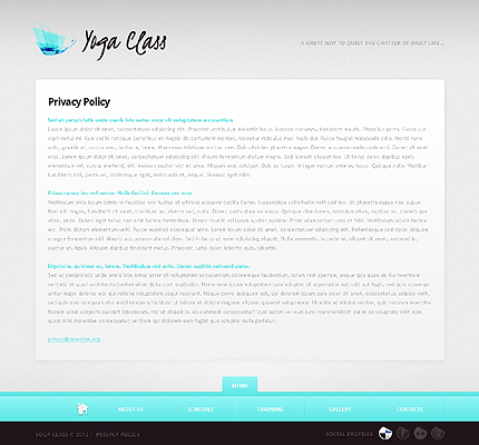 Template 37661 ( Privacy Policy Page ) ADOBE Photoshop Screenshot