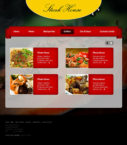 Template 37662 ( Gallery Page ) ADOBE Photoshop Screenshot