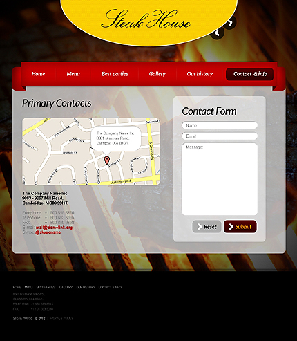 Template 37662 ( Contact & Info Page ) ADOBE Photoshop Screenshot
