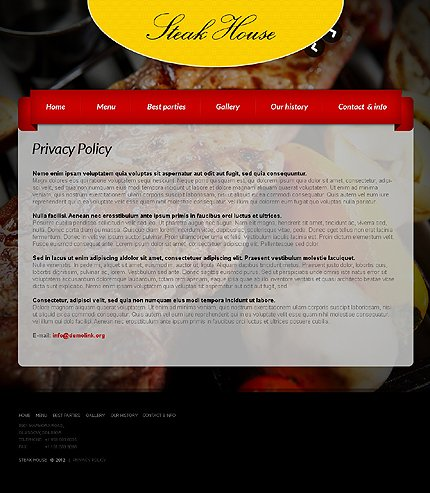 Template 37662 ( Privacy Policy Page ) ADOBE Photoshop Screenshot