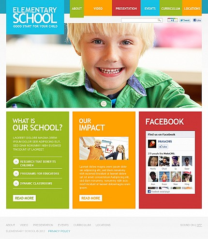 ADOBE Photoshop Template 37676 Home Page Screenshot