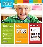 Education Flash CMS  Template 37676