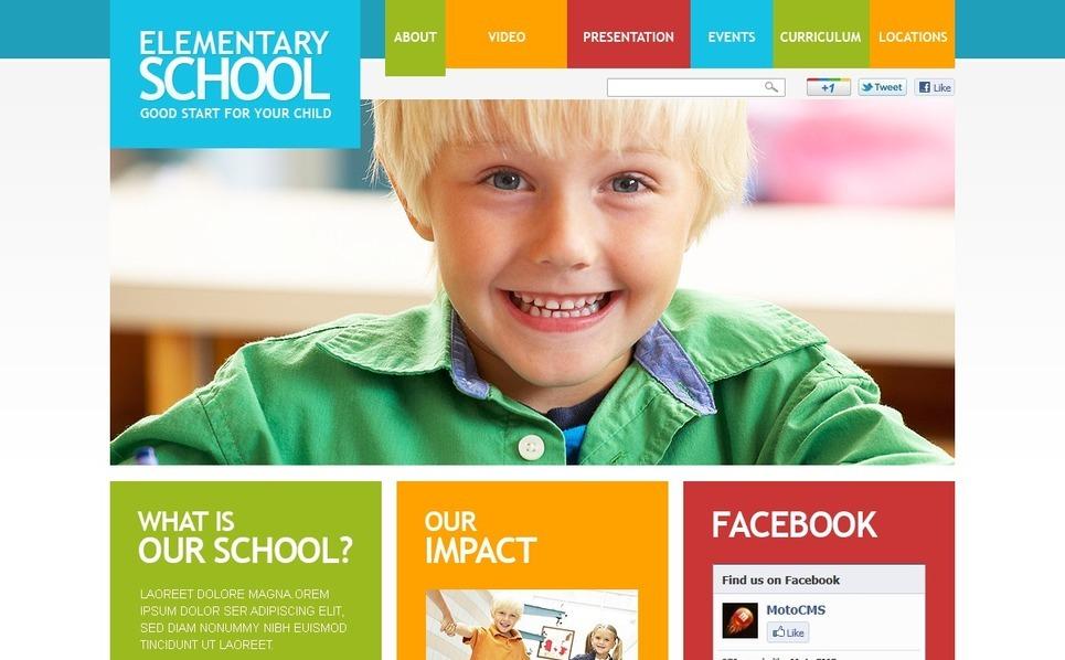 Szablon Flash CMS #37676 na temat: szkoła podstawowa New Screenshots BIG