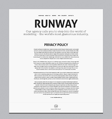 Template 37681 ( Privacy Policy Page ) ADOBE Photoshop Screenshot