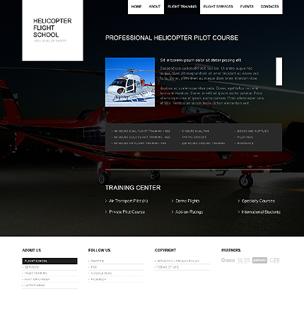 Template 37682 ( Flight Training Page ) ADOBE Photoshop Screenshot